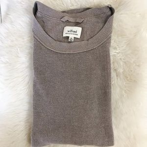 Wilfred Aritzia Mauve Sweater